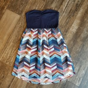 Roxy Strapless Navy Blue Mini Dress